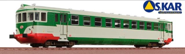 OS.KAR 2032 - FS automotrice diesel Aln 773.3537 livrea verde magnolia grigio nebbia ep. III