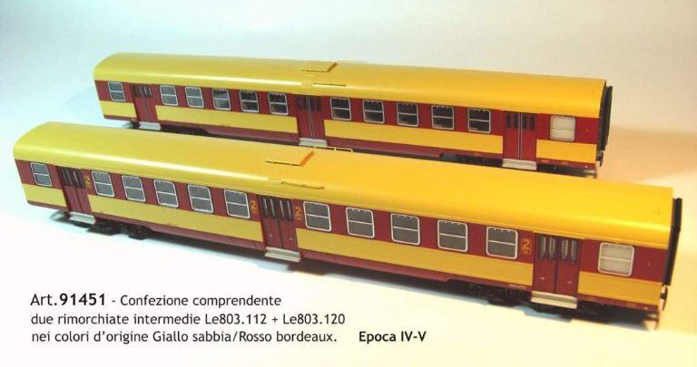 MDF 91451 RIMORCHIATE INTERMEDIE Le803 PER COMPLETARE 91401 E 91403