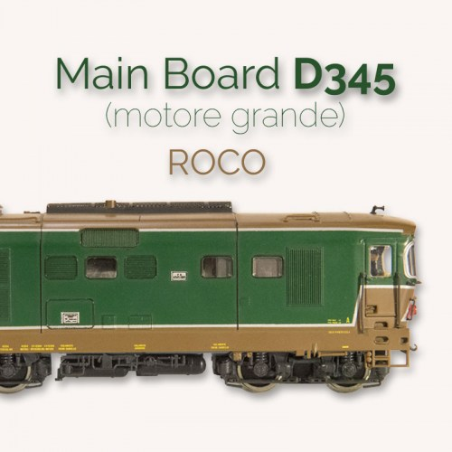 Main board per Roco D345 (motore grande) connettore decoder PLUX16 almrose art. 4-30112 kit base